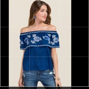 Francesca's |Velvet off Shoulder top sz XS-NWT